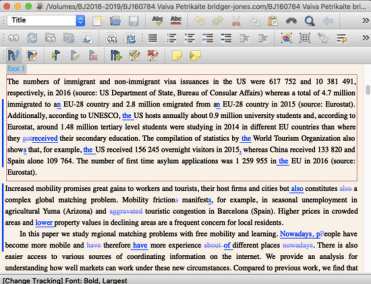 Editing and proofreading in Lyx