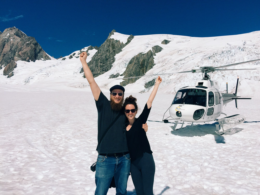 New Zealand road trip - Helicopter ride