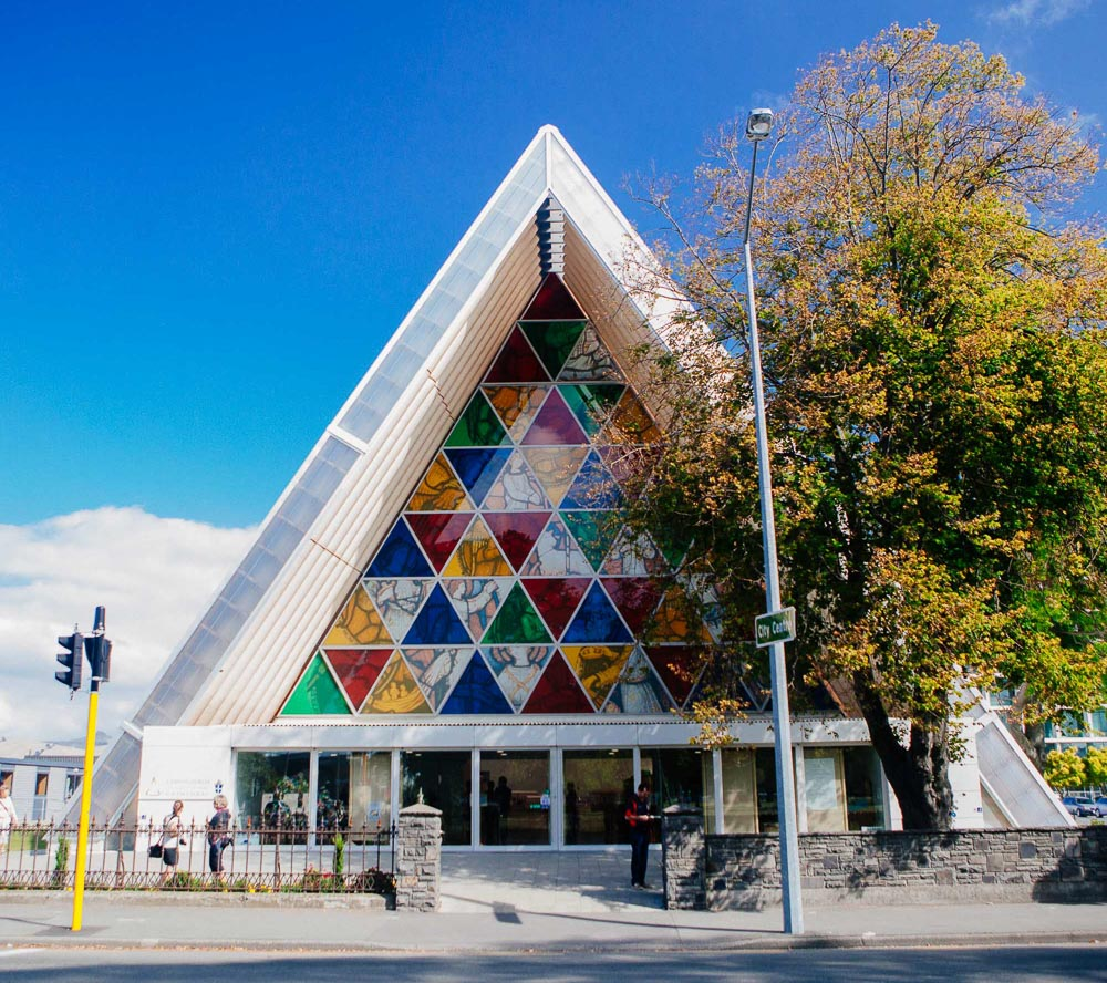 New Zealand road trip - Christchurch Cardboard Cathedral