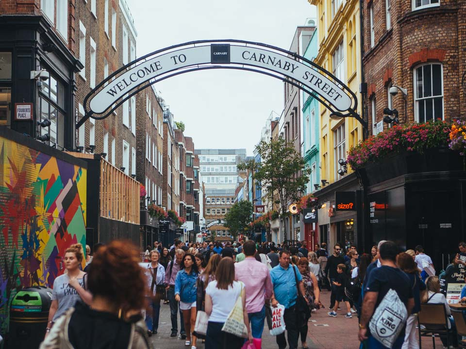 London activities - Carnaby Street