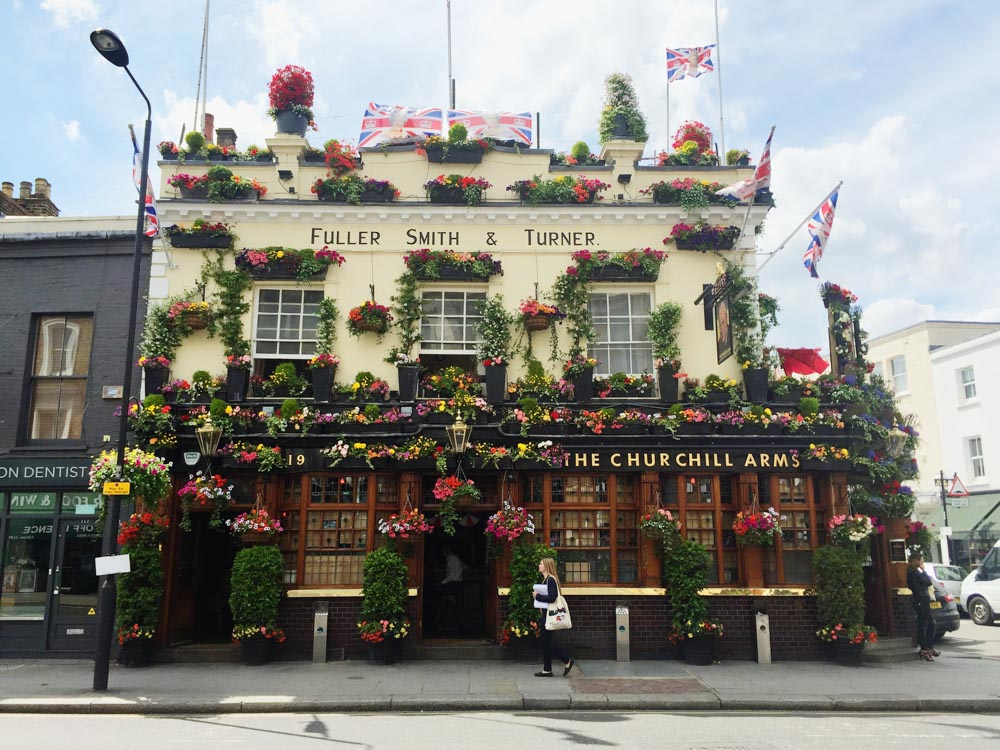 Churchill Arms Flower Pub London