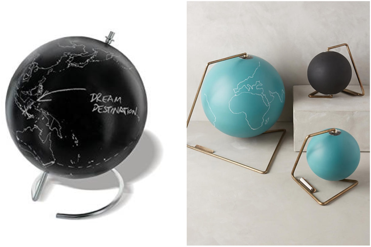 Christmas gift guide - chalk globe