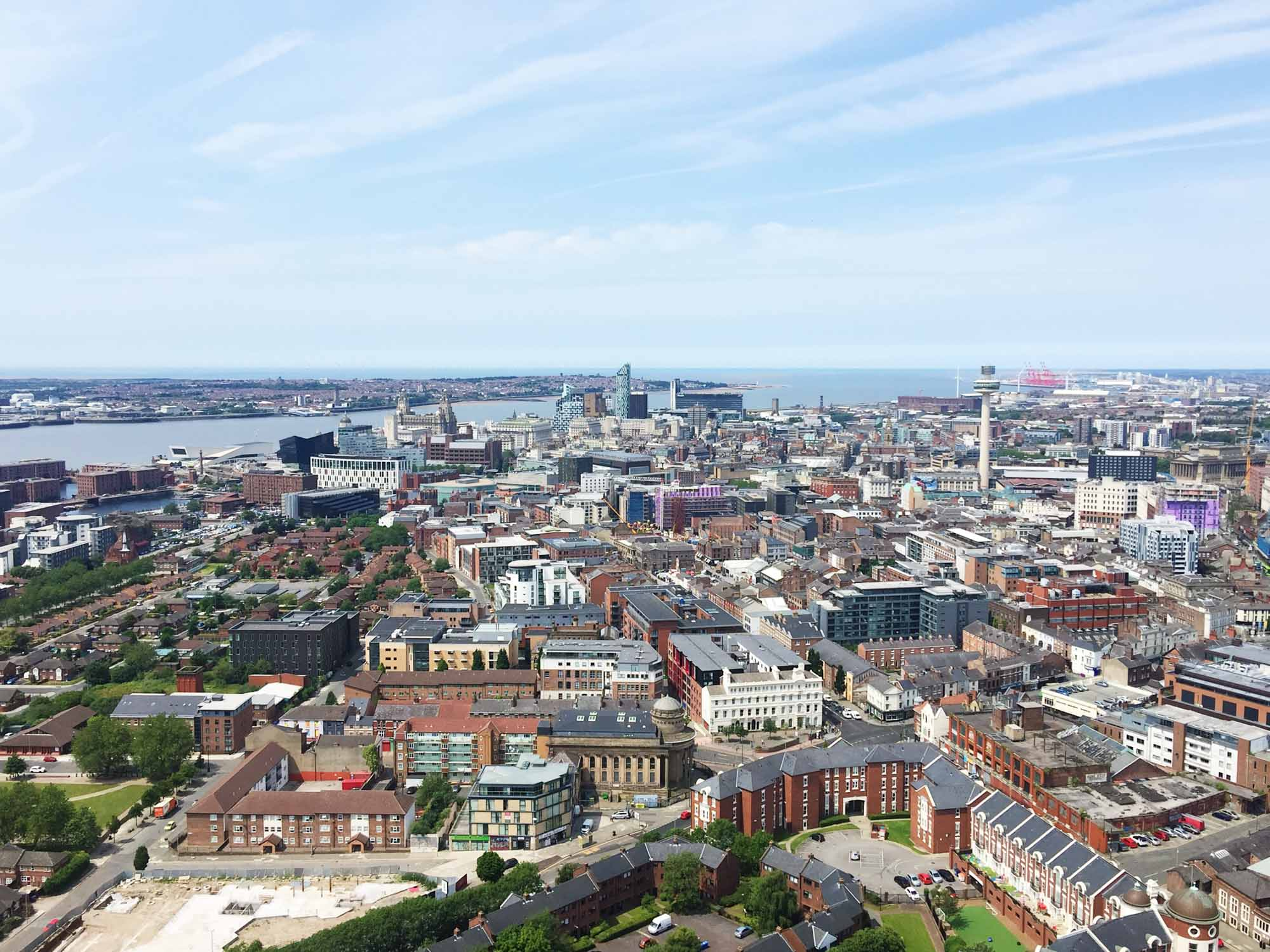 Best things to do in Liverpool - Hope Street - view from Anglican Cathedral