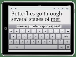 ...on an iPad