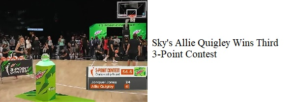 Allie Quigley Wins 3rd 3-Point Contest