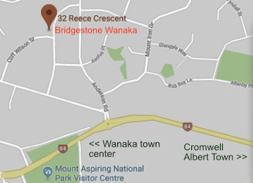 Bridgestone Tyres, Wanaka - location map