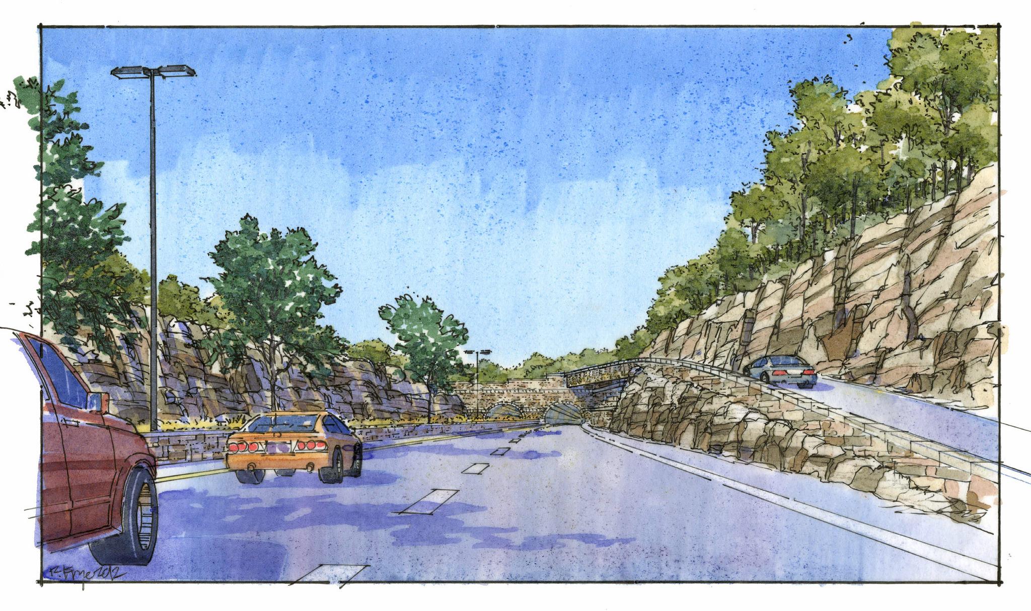 Lewis and Clark BridgeHarrods Creek Tunnel Rendering