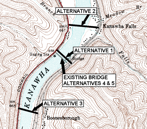Kanawha Falls Bridge Alternatives