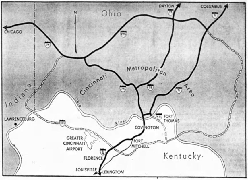 c. 1962 Circle Freeway Alignment