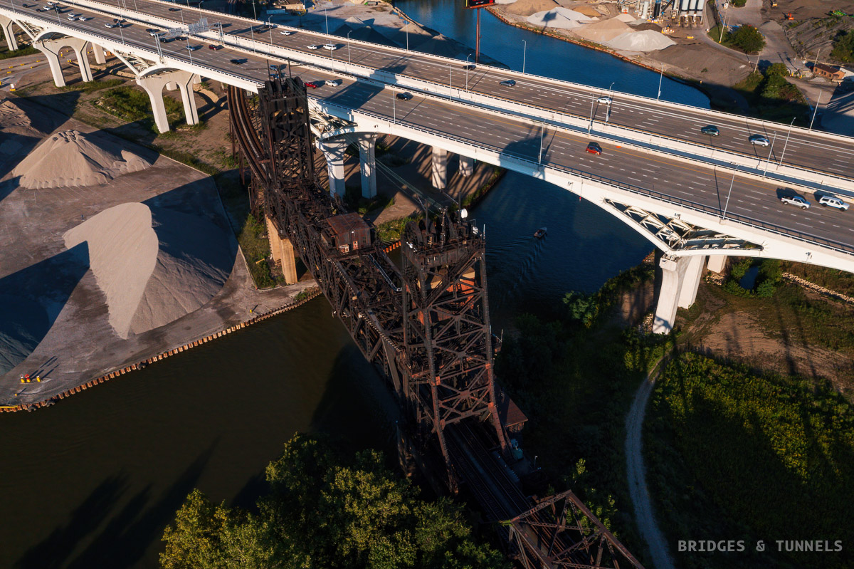 Nickel Plate Road High Level Bridge and George V. Voinovich Bridges