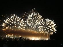 Firework display near Yaletown