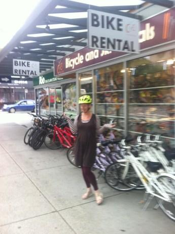 Hiring the bike
