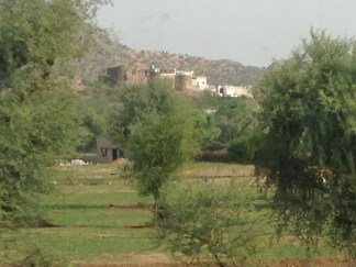 Fort - view from train to Jodhpur