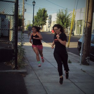 Jenni and Chrity Sprint Running Bridgetown Strength and Conditioning Program Portland, OR