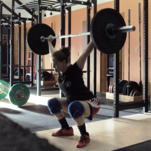 Erin Overhead Squat in Snatch Balance Steel Bridge Weightlifting at Bridgetown Barbell Portland OR