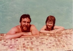 A photo of me and my dad when I was 4 years old.  My favorite photo ever taken with him.