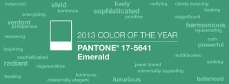 Emerald Green Pantone Color of the Year