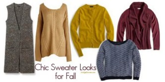 Chic sweater looks for fall