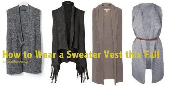 How to Wear Sweater Vests This Fall