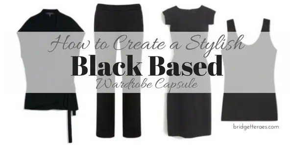 black based wardrobe