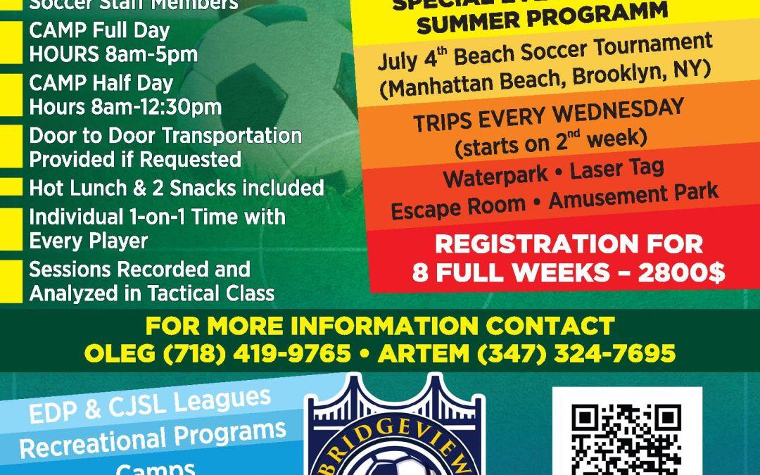 Summer program. Do not miss it!