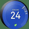 close of up temperature gauge