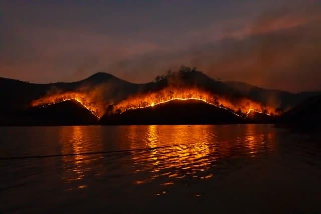 carbon emissions fire