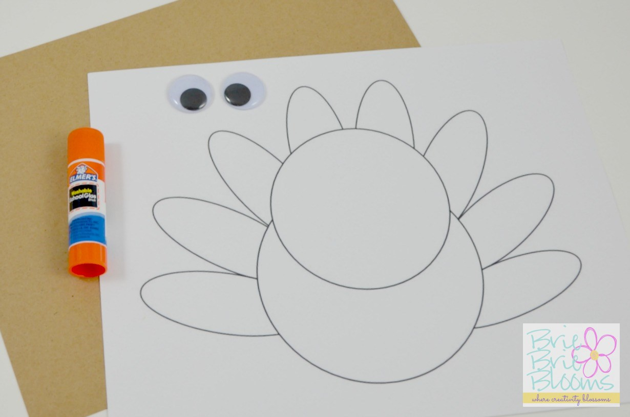 Thanksgiving Kids Craft Pop Up Turkey Card With Free Printable