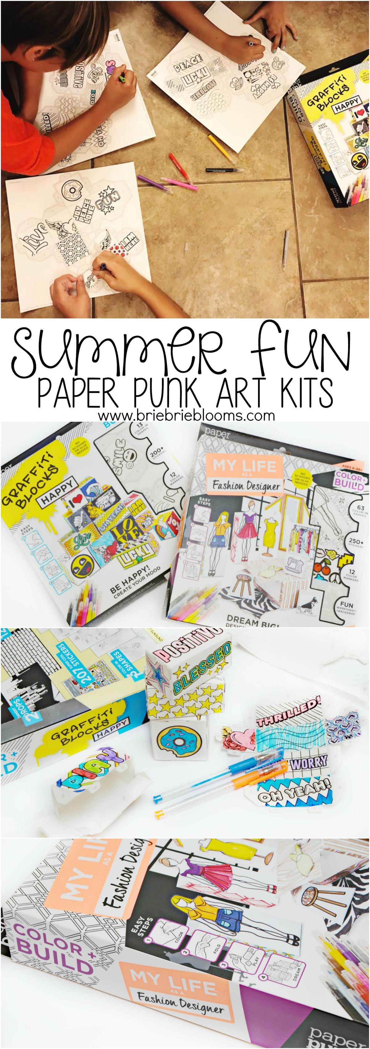 Summer Fun Paper Punk Art Kits