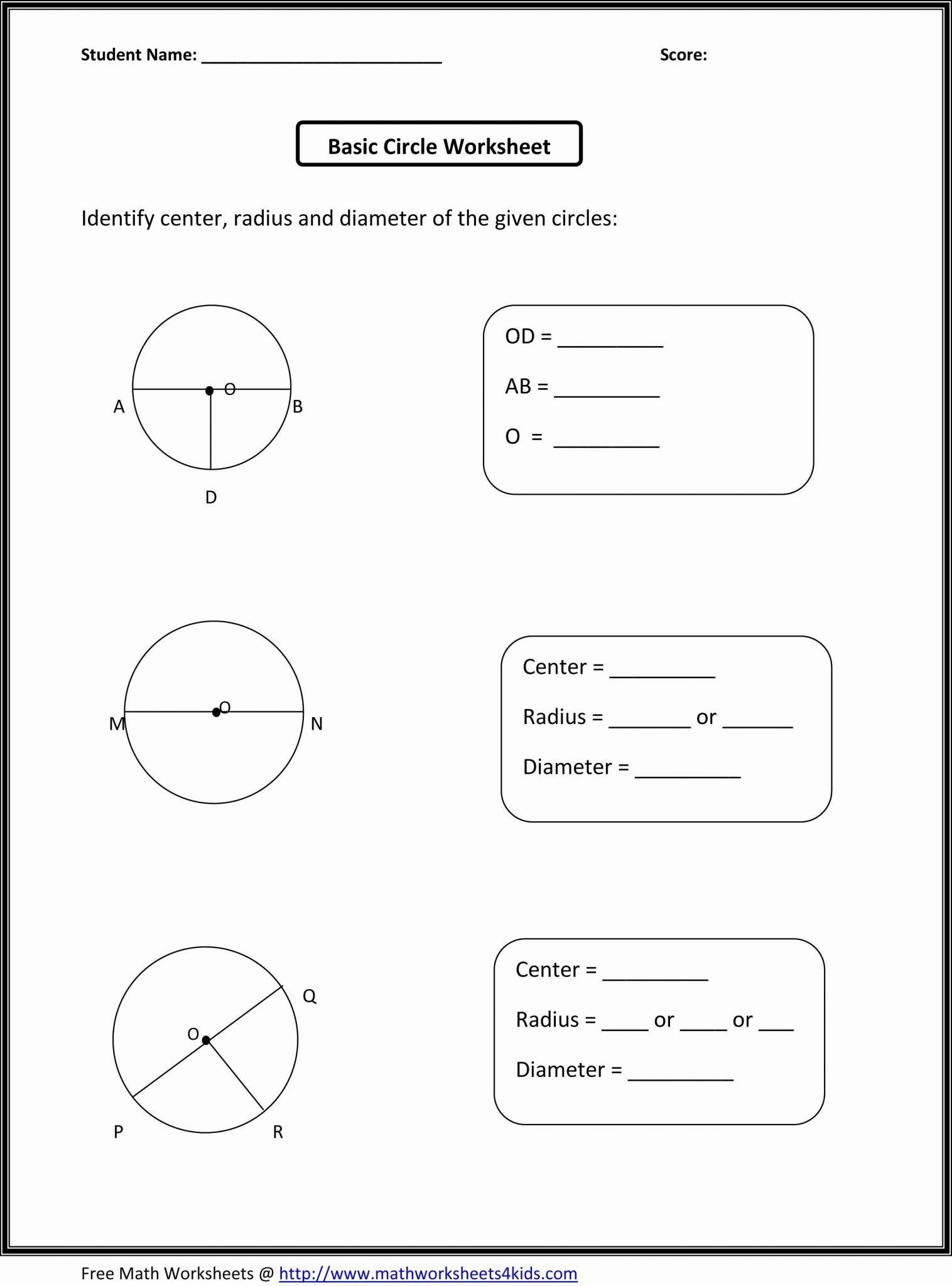 1st Grade Science Worksheets