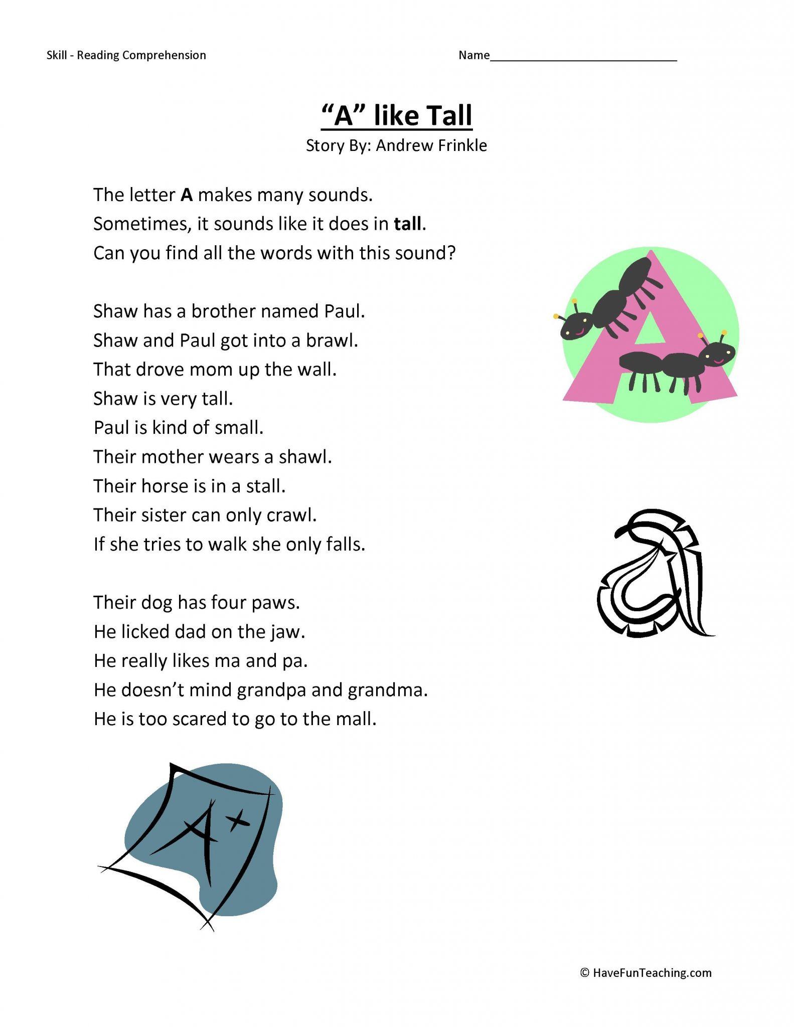 2nd Grade Comprehension Worksheets