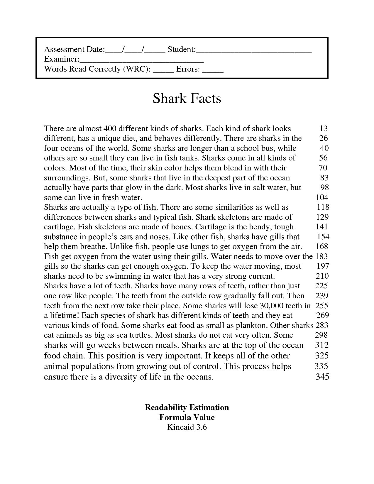 Year 4 Reading Prehension Worksheet
