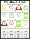 1st Grade mon Core Worksheet Time to the hour and half hour Cut
