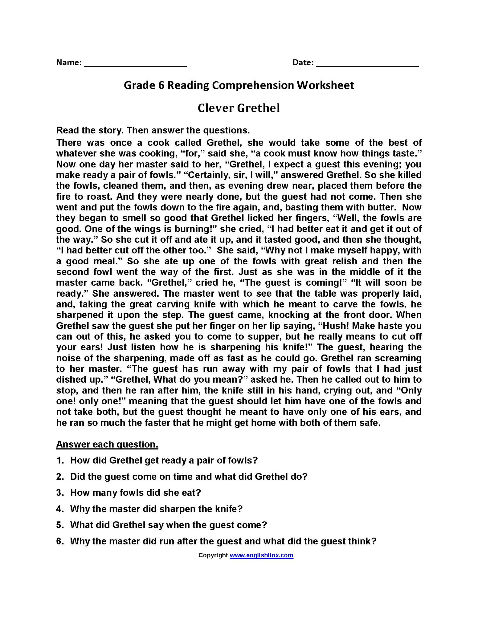 3rd Grade Reading Comprehension Worksheets Multiple Choice
