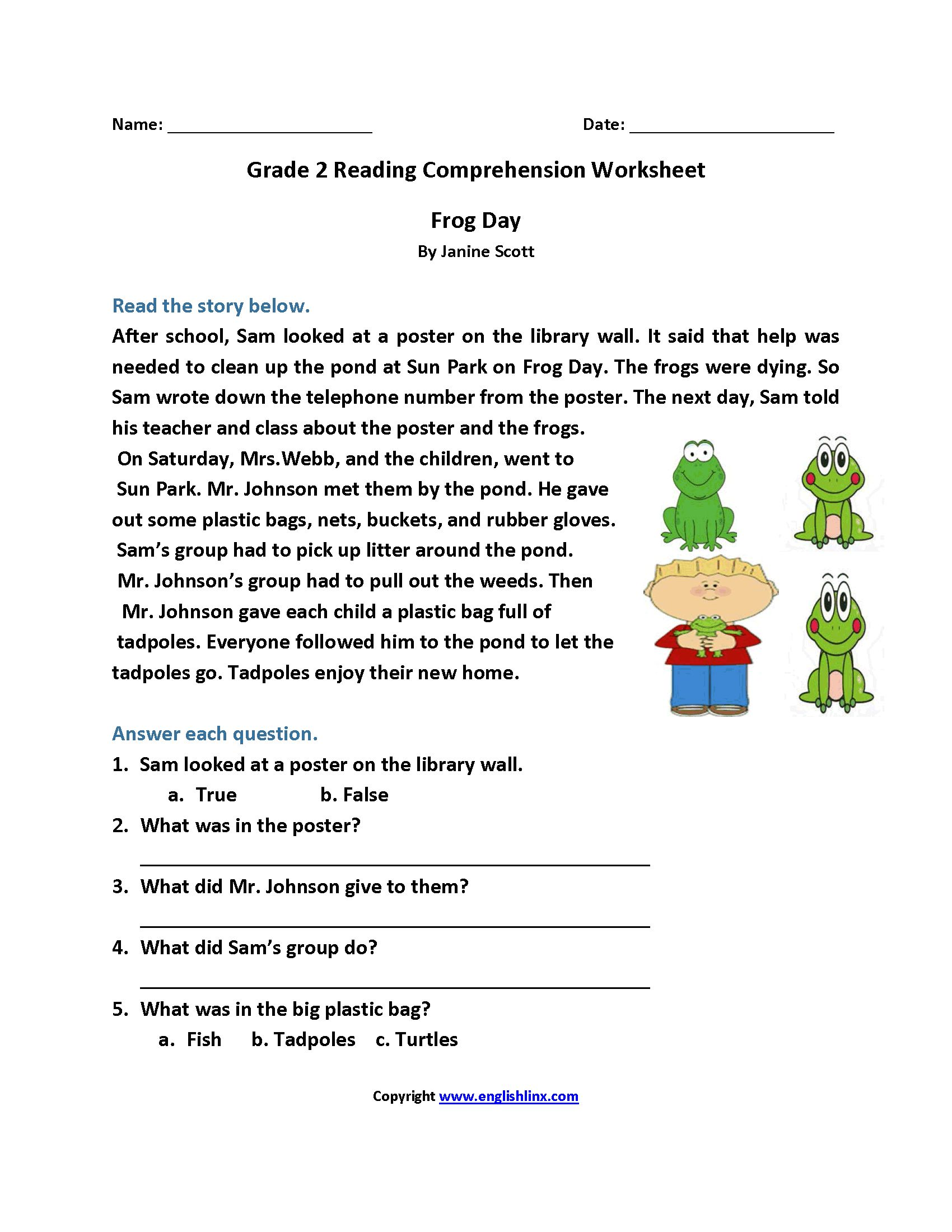 Reading Prehension Letter Worksheet
