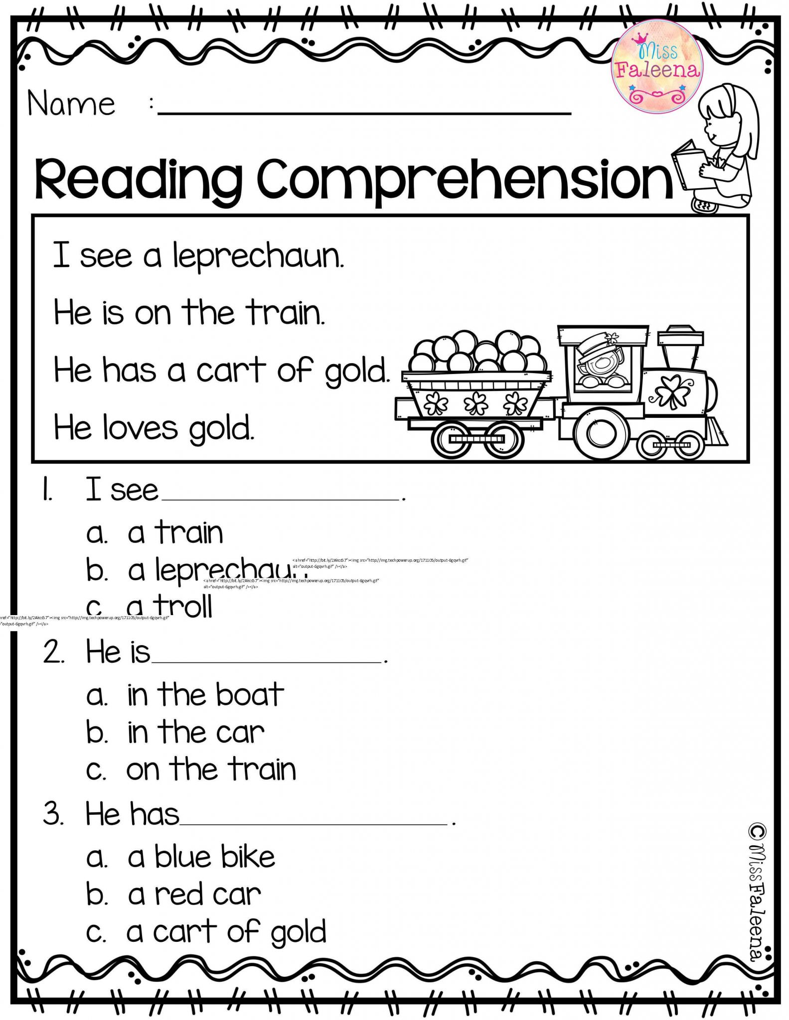 3rd Grade Reading Worksheets Multiple Choice