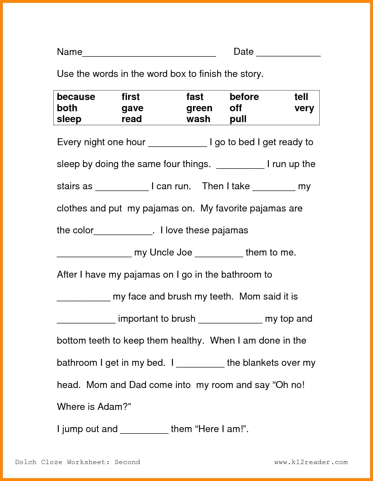 4th Reading Comprehension Worksheets