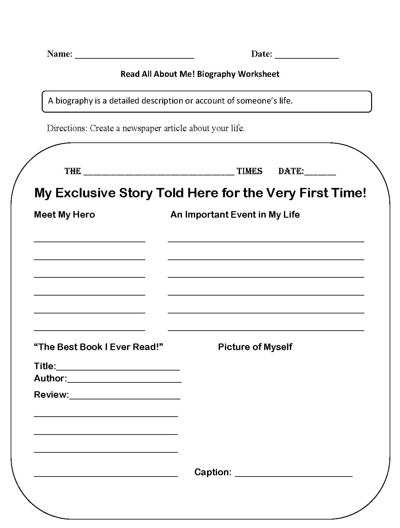 5th Grade Activity Worksheets