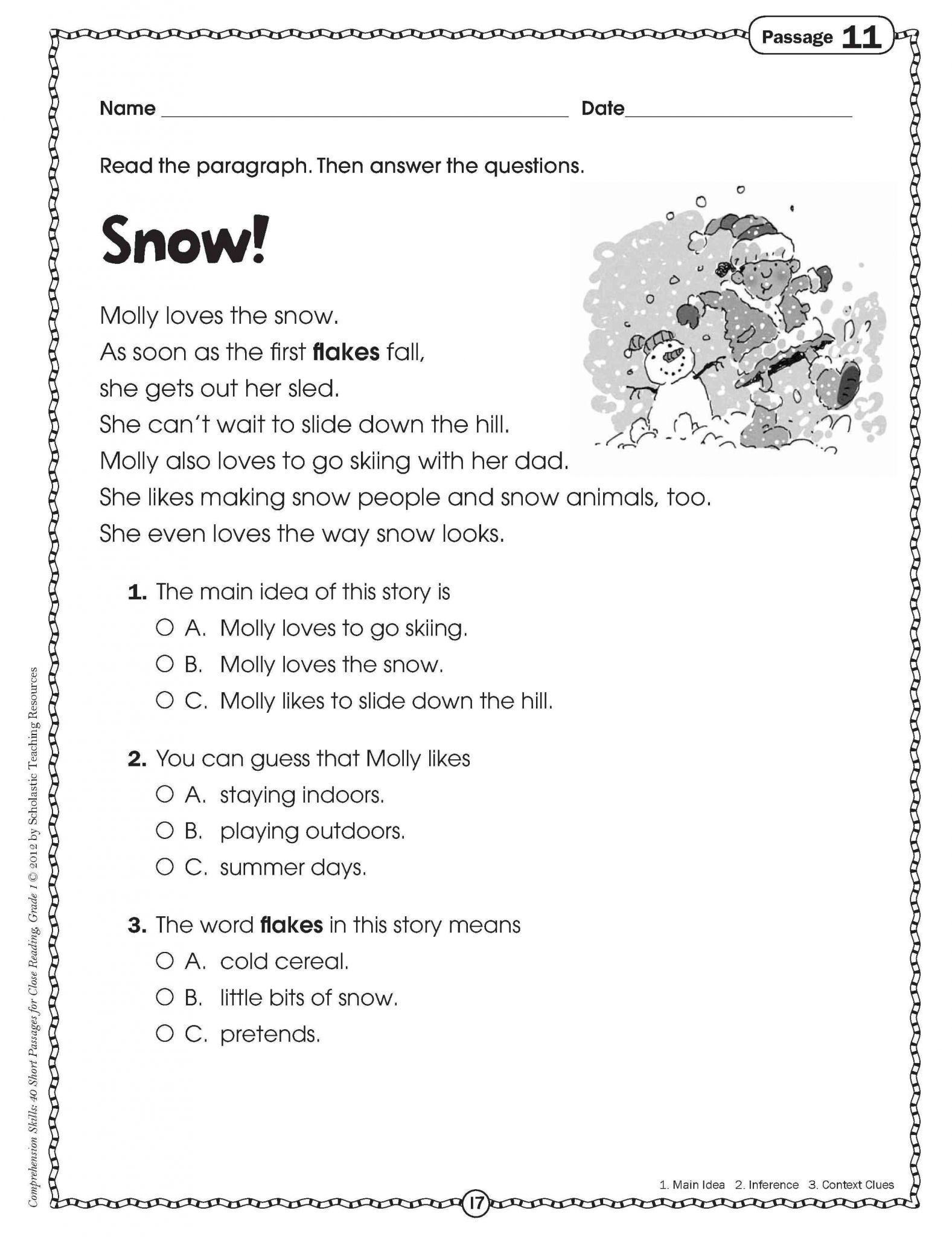 7th Grade English Worksheets