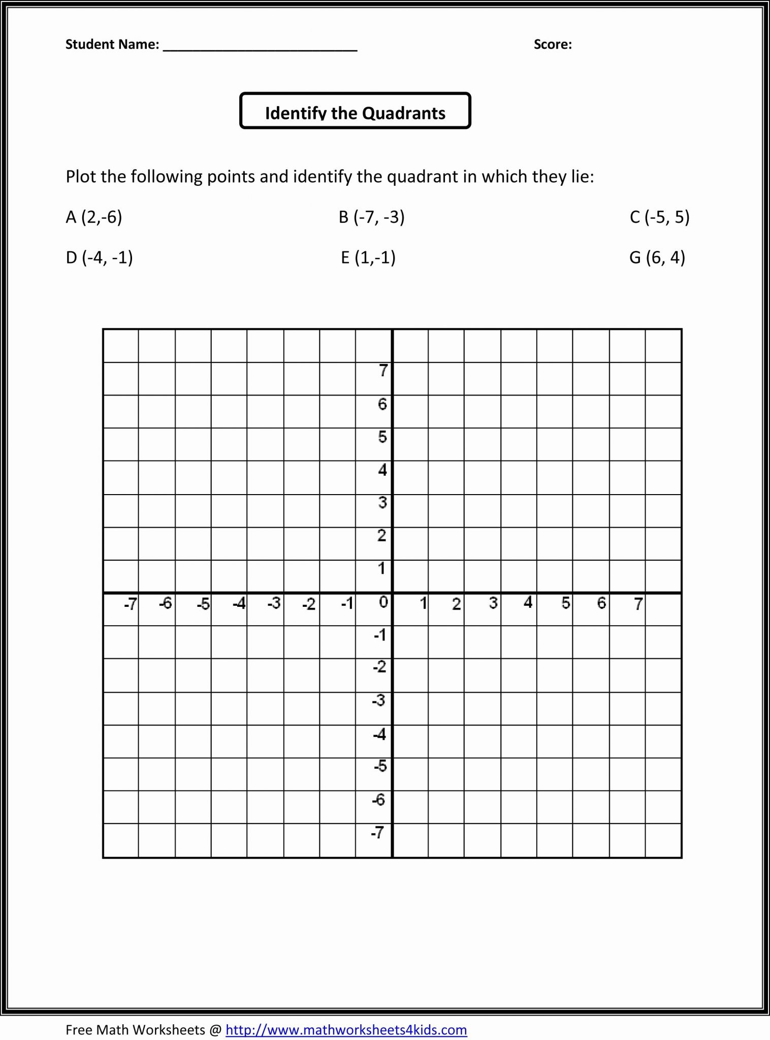 7th Grade Order Of Operations Worksheet