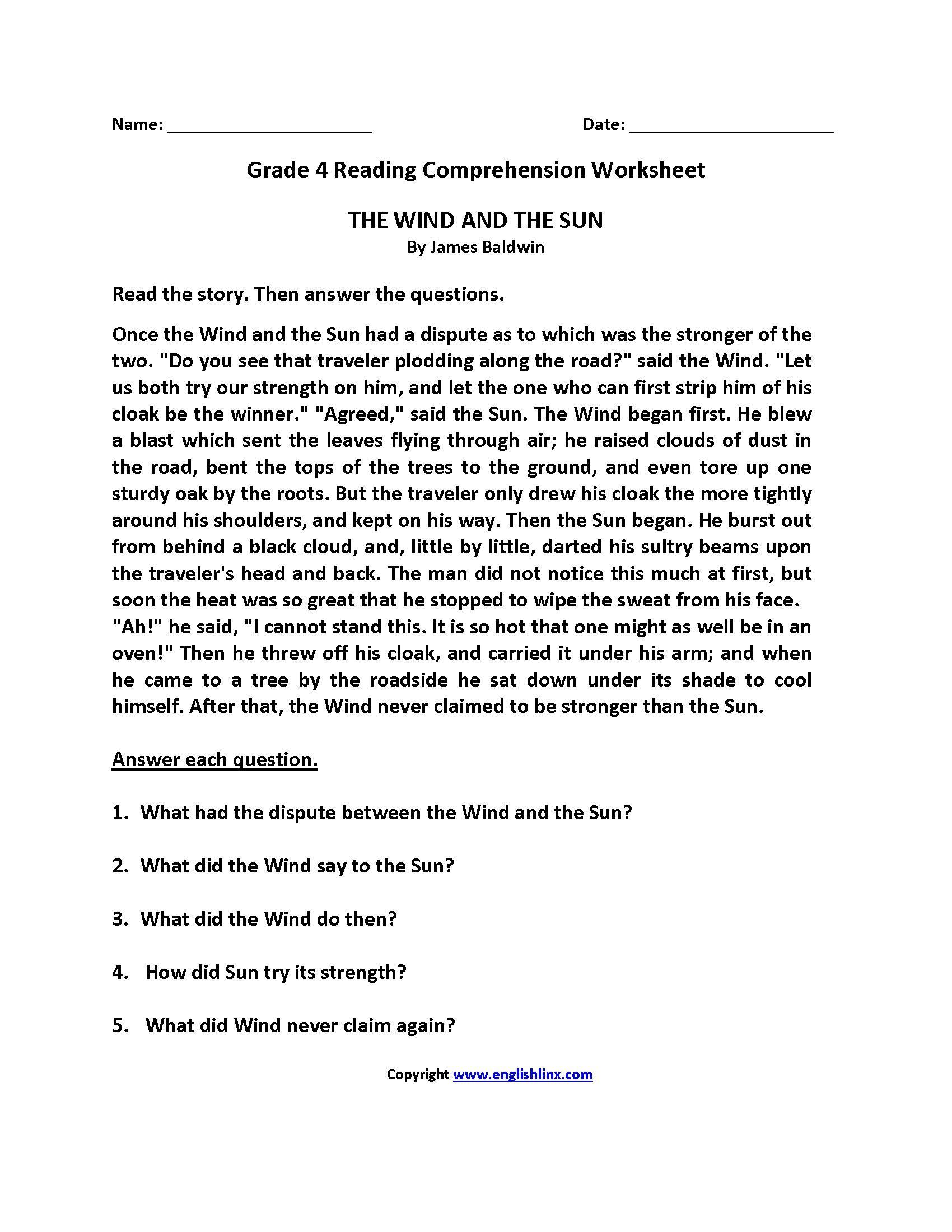 College Reading Worksheet