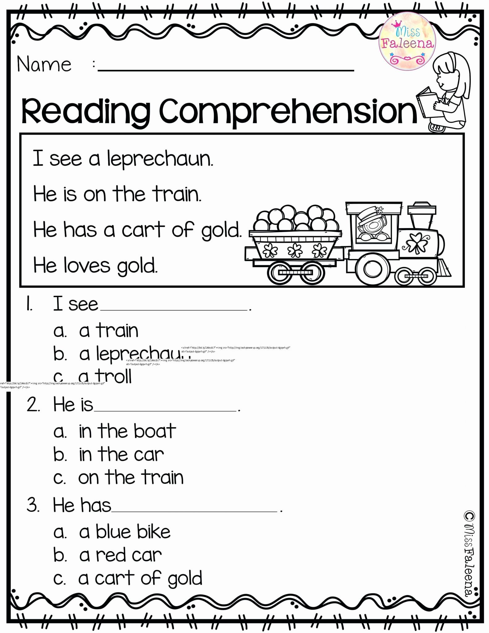 Prehension Worksheet First Grade