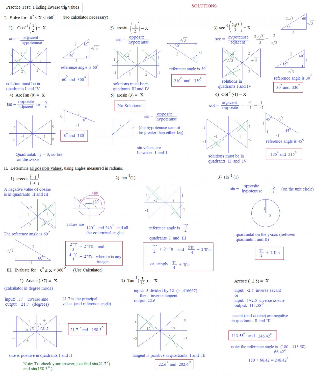 Angle Of Elevation And Depression Worksheet