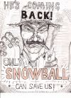 Animal Farm campaign poster Snowball Depiction of Jones at the picket fence Campaign Posters