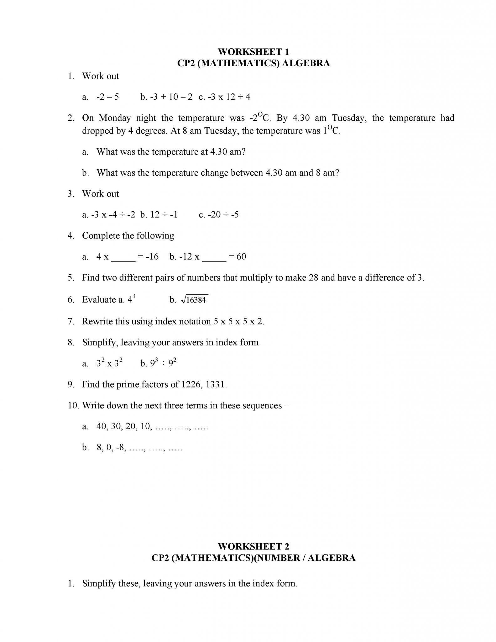 35 Arithmetic Sequences Worksheet Answer Key