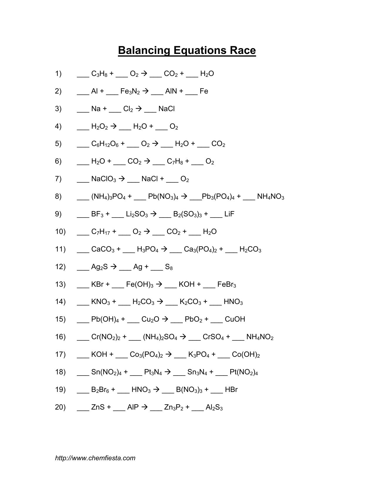 Balancing Equations Worksheet H3po4 Koh