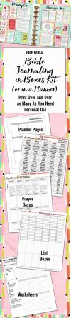 Editable Bible Journalling Planner Kit Printables Planner Pages Worksheet Template Prayer & Bible Study Stickers