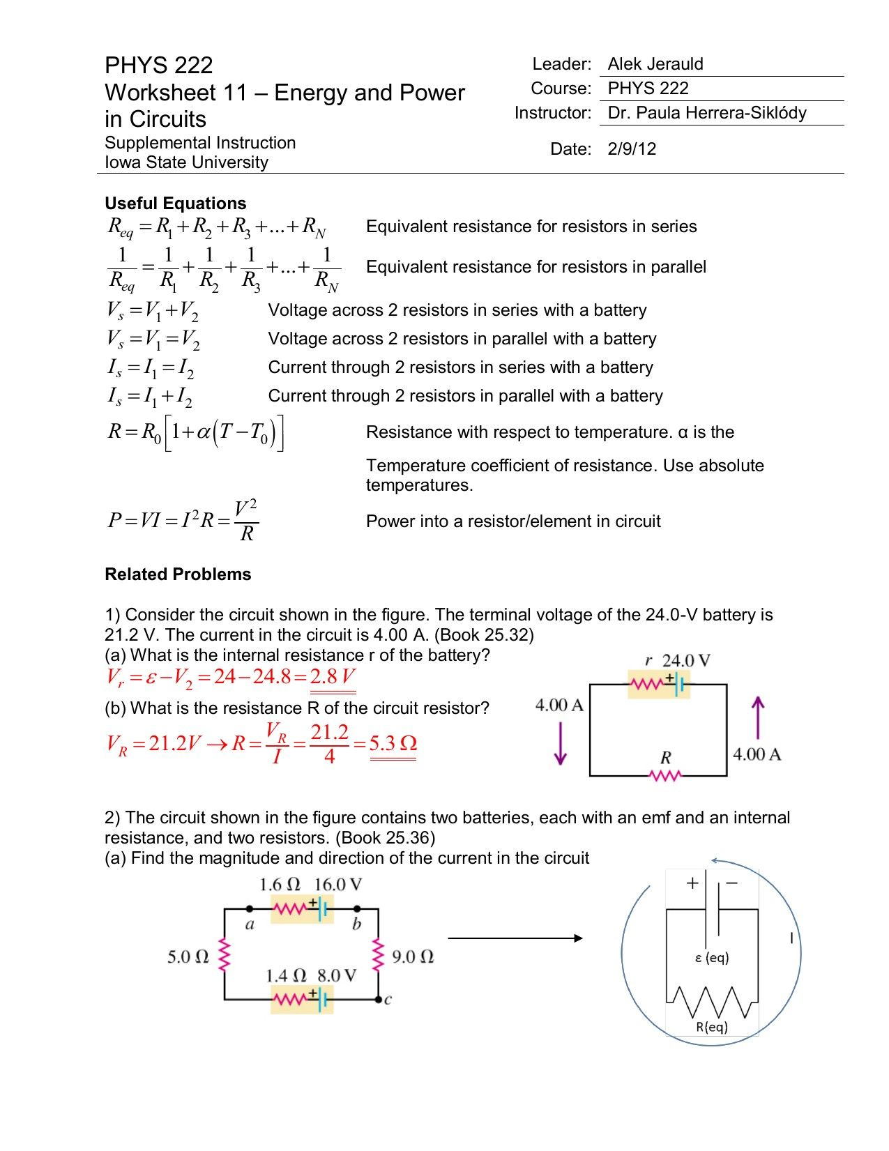 Bill Nye Magnetism Worksheet Answers