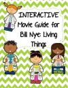 Video Worksheets Movie Guides for Bill Nye Living Things Bundle QR codes
