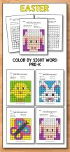 Easter Activities for Preschool Easter Coloring Pages are perfect for teaching students sight words